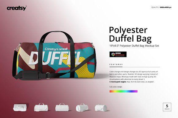 Download Duffel Bag Mockup Set 19x9 5 Bag Mockup Duffel Bag Duffel