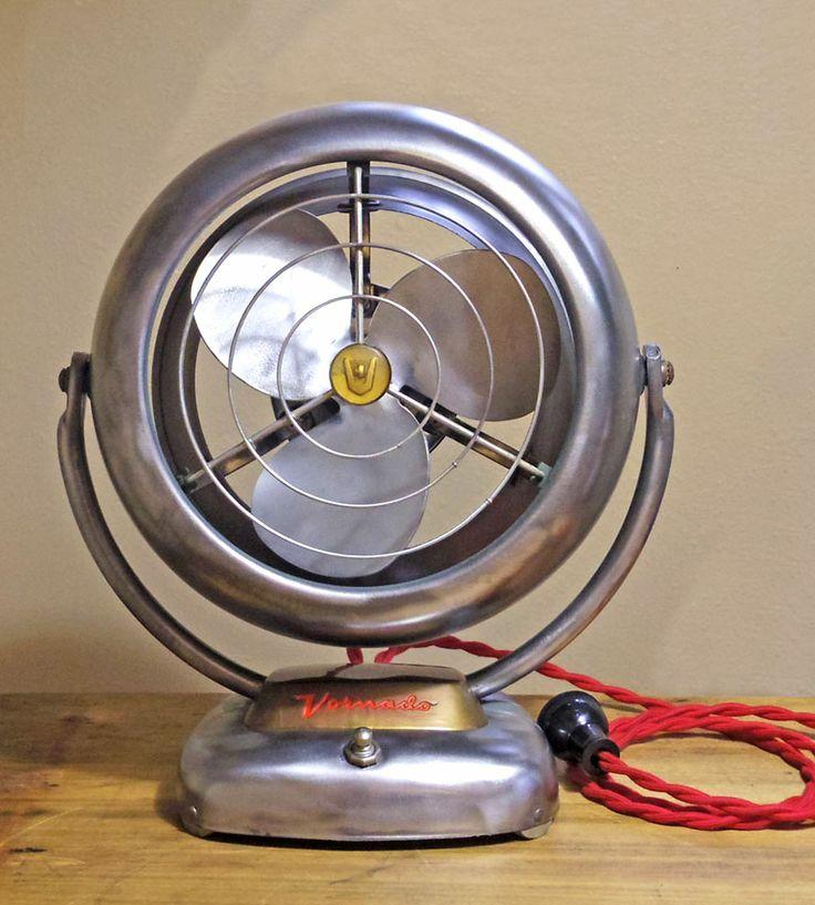 Vintage Polished Steel Vornado Fan