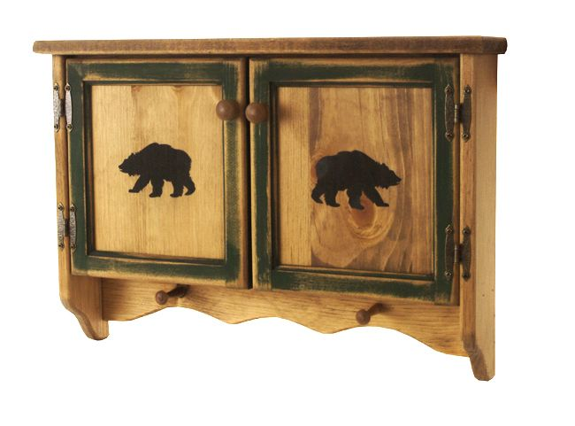 bear silhouette wall cabinet lodge decor pinterest With kitchen cabinets lowes with wildlife wall art silhouette