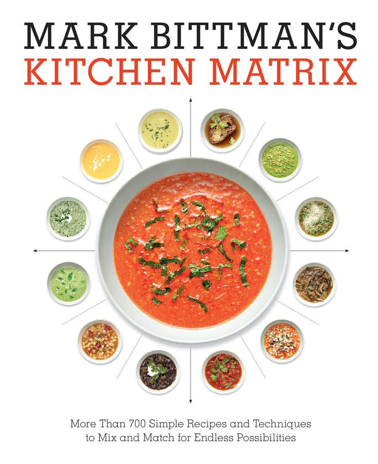Check out one of Mark Bittman's latest cookbooks, Kitchen Matrix. It's a great visual cookbook that fans of Bittman will enjoy.