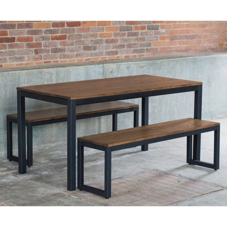 elan furniture loft 3 piece parsons dining set chocolate spice gdlt1adx