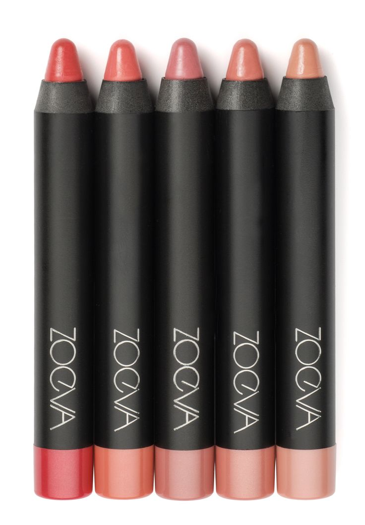 ZOEVA Lip Crayon+ in five beautiful shades from nude to pink https://www.zoeva-shop.de/en/face/lip-crayon/