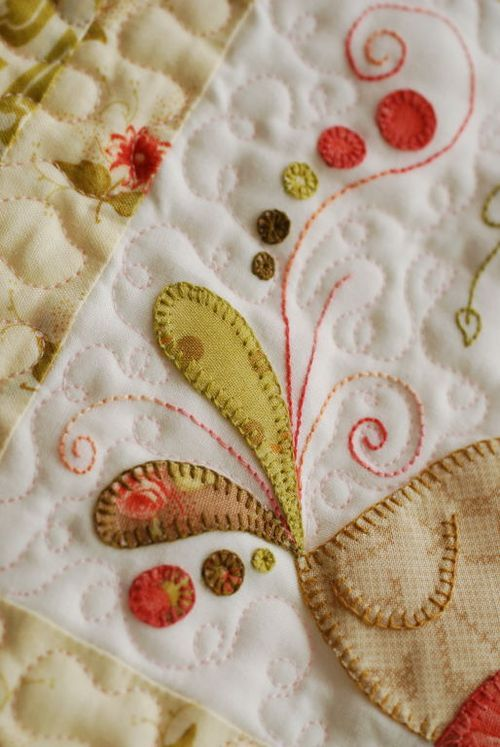 I want to learn to applique as beautifully as this!