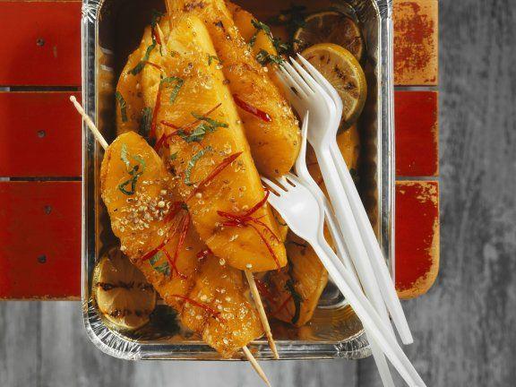 Rezept: Pikante Ananas vom Grill