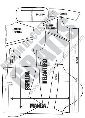 Camisa BC126 mangas y bolsillos | EL BAÚL DE LAS COSTURERAS