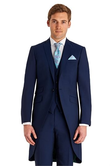 Ted Baker 1 Button Blue Morning Tail Coat