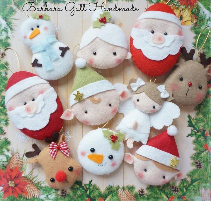 cositas de navidad variadas en fieltro