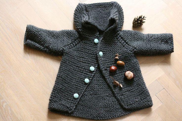 Hand knitted 100% merino jacket for newborn . Sweater weather!