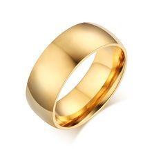 Vintage 18k pozlacené prsten snubní zásnubní prsteny pro ženy / muži šperky z ušlechtilé oceli (Čína (pevninská část))