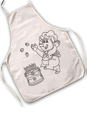 Maak je kookfeestje compleet; kleur je eigen kookschort!