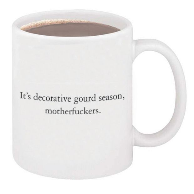 It's Decorative Gourd Season Mug by McSweeney's