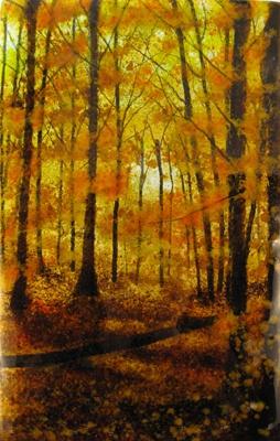 Woodland Path; kiln-formed glass; Canadian artist, Jerre Davidson