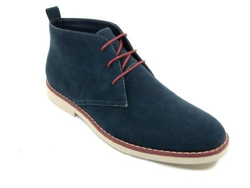 Mens Navy Ankle High Chukka Desert Style Lace Up Casual Boots - http://authenticboots.com/mens-navy-ankle-high-chukka-desert-style-lace-up-casual-boots-2/