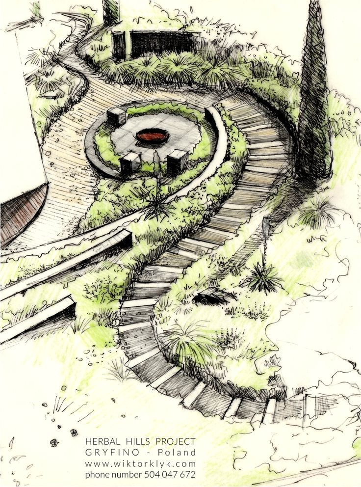 102 best wiktor k yk landscape architect images on pinterest for Garden design sketches