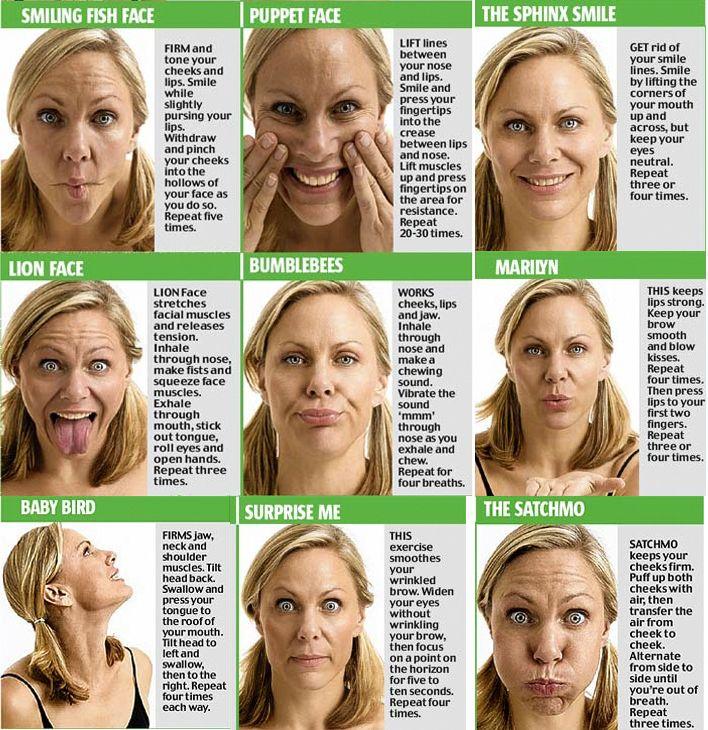 Как быстро похудеть щеки