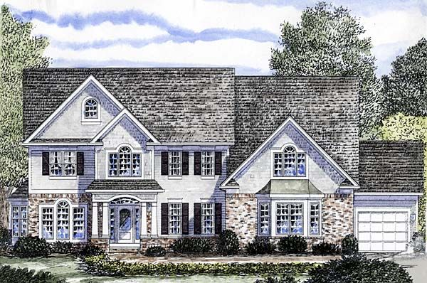 Colonial Traditional House Plan 94168