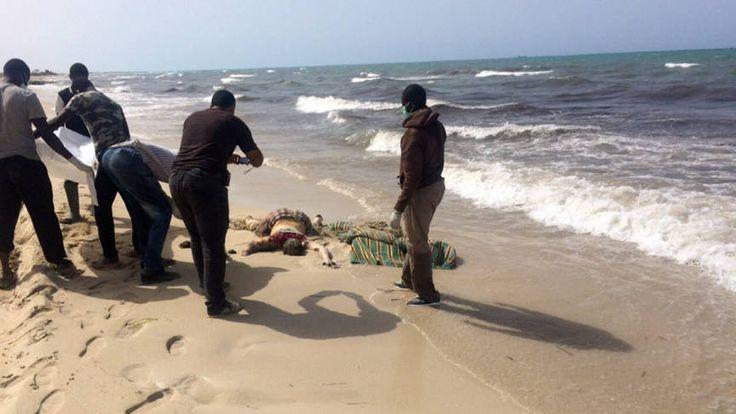 Meer dan 100 lichamen aangespoeld op Libisch strand | NOS