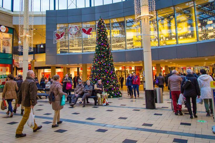 Winkelcentrum de Weiert in Emmen. Het grootste overdekte winkelcentrum van noord Nederland.