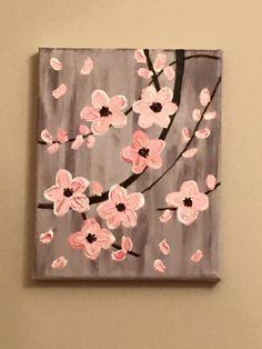 Acrylic Painting on Canvas by Lisa Fontaine. Impasto. Dogwood. Flowers. Trees.