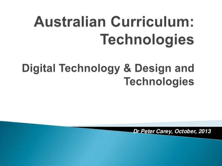 WA Curriculum Outline: Technologies