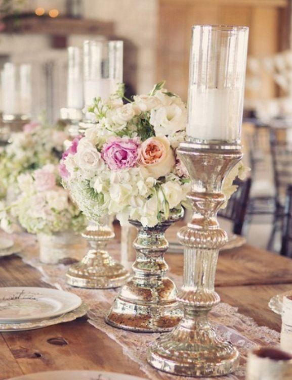 Candlesticks Vintage Wedding Reception