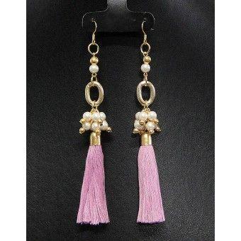 Aretes de Moda con Perlas y Motitas