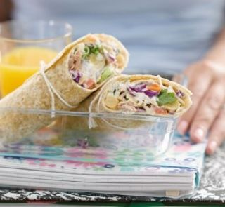 Tuna coleslaw wraps | Healthy Food Guide