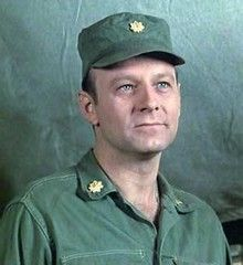 Larry Linville (9/29/39 - 4/10/2000) American actor. He was known for his portrayal of obnoxious, pious, self-important and inept surgeon Major Frank Burns in the television series MASH.