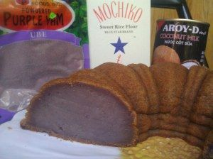 ube mochi bundt cake
