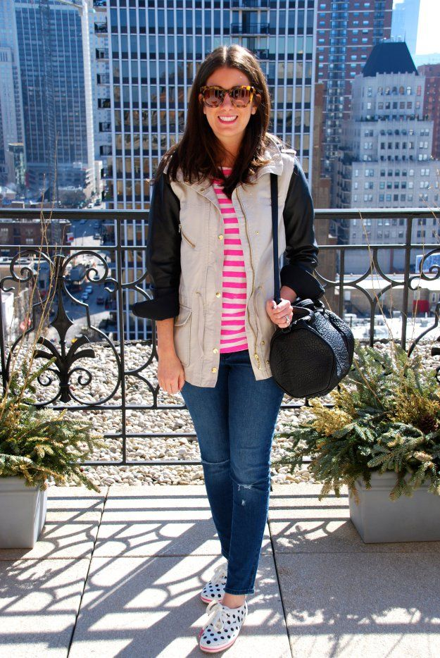 fashion, women's fashion, street style, stripes, distressed denim, polka dots, alexander wang, rocco bag, spring trends, spring style, GOLD COAST GIRL - a chicago-based fashion + lifestyle guide