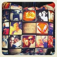 This website lets you design a pillow based on your instagram pictures - such a cool idea! Maybe I could do this on my own?
