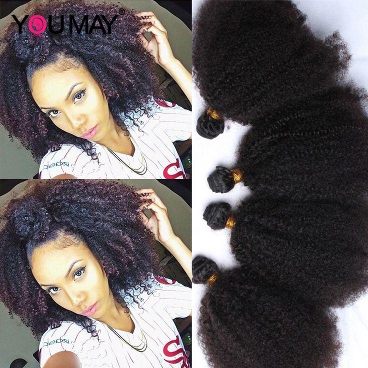 Mongoolse Afro Kinky Krullend Virgin Haar Stijl Kinky Krullend Haar 4 stks rosa queen haarproducten krullend weave menselijk haar Extensions