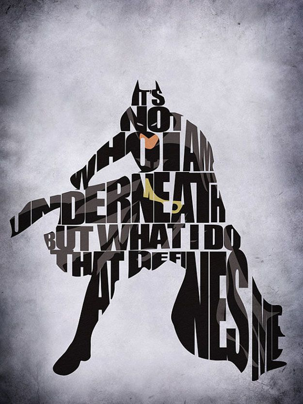 Typographic Art :: Batman - by GeekMyWall