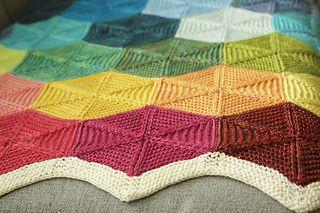 """Polygon"" blanket knitting pattern by tincanknits. Knit with DK weight yarn. Beautiful!"