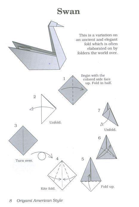 Der traditionelle Origami-Schwan