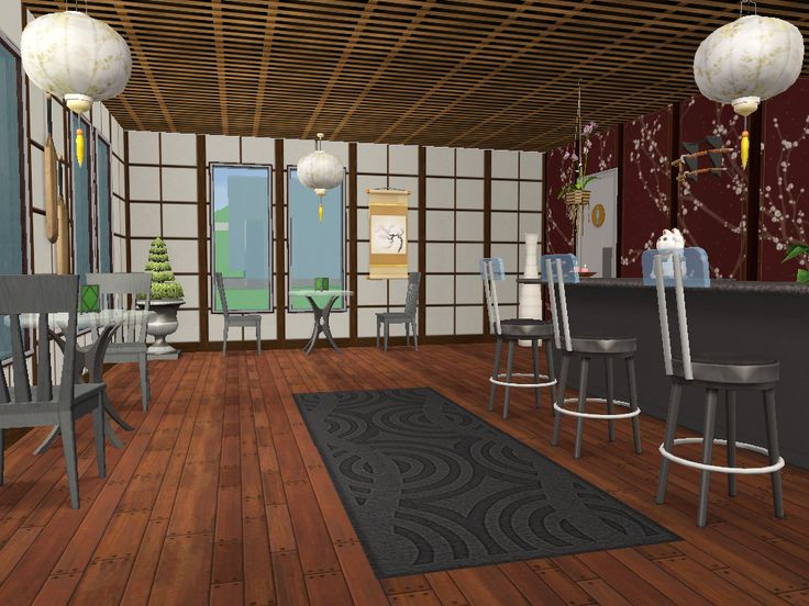 Birthday Requests Part 1Finally I can post the requests/gifts for my birthday. (which was in october. >.< ) @sims-influence asked for a sushi bar. It was a litttle bit difficult because I build it...
