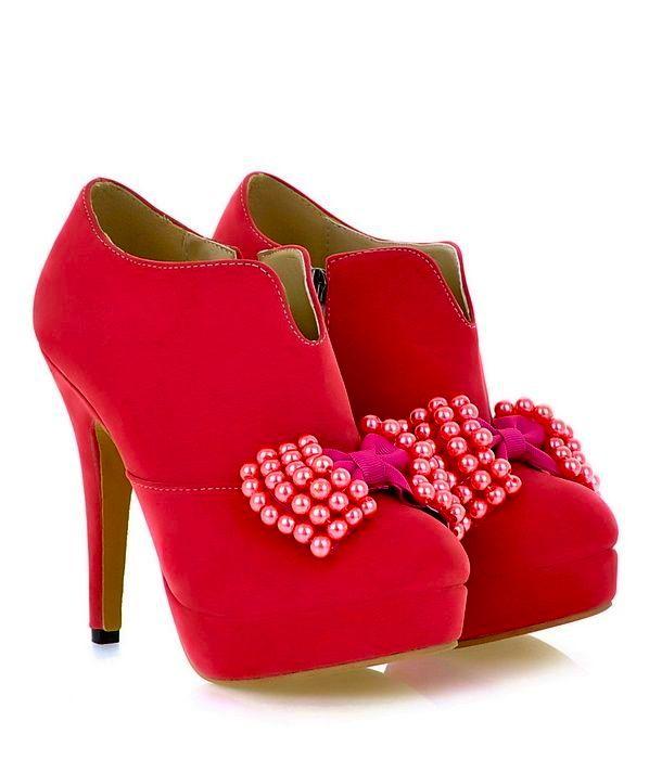 Cute Candy Pink Bow Knot Design High Heel Pumps