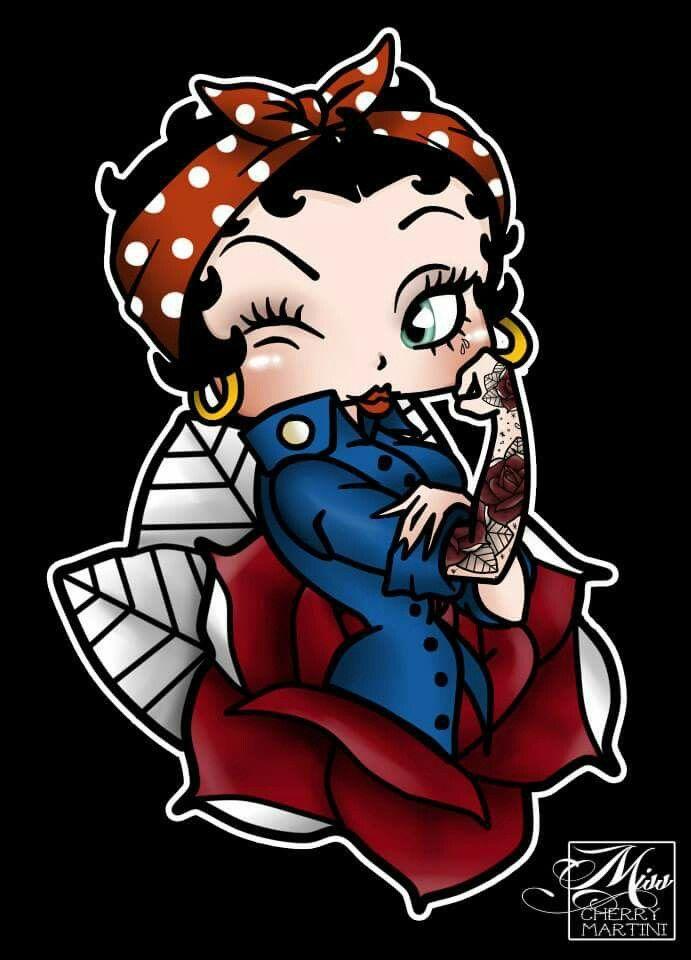 Cherry Martini , Betty Boop rose tattoo - love love this graphic