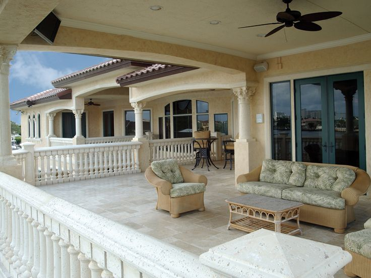 The Second Floor Covered Balcony Offers Year Round Outdoor