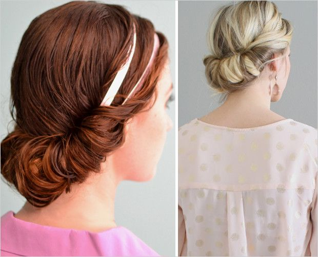 The headband roll! (makes a great wet/dry hair style)