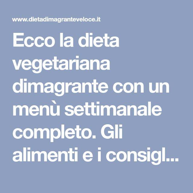 menu di dieta vegetariana di problemi