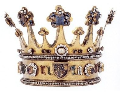 The medieval Crown of Margaret of York made circa 1300AD.