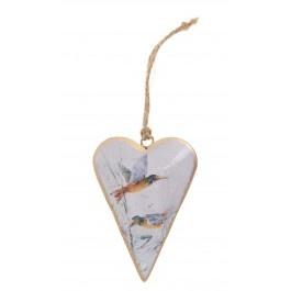 Flying Birds Metal Heart Decoration £3.75