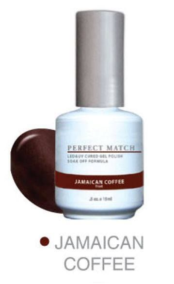 Lechat Perfect Match - Jamaican Coffee - comes with a Gel Polish and matching Nail Lacquer. … | Perfect match gel polish, Gel nail colors, Perfect match nail polish