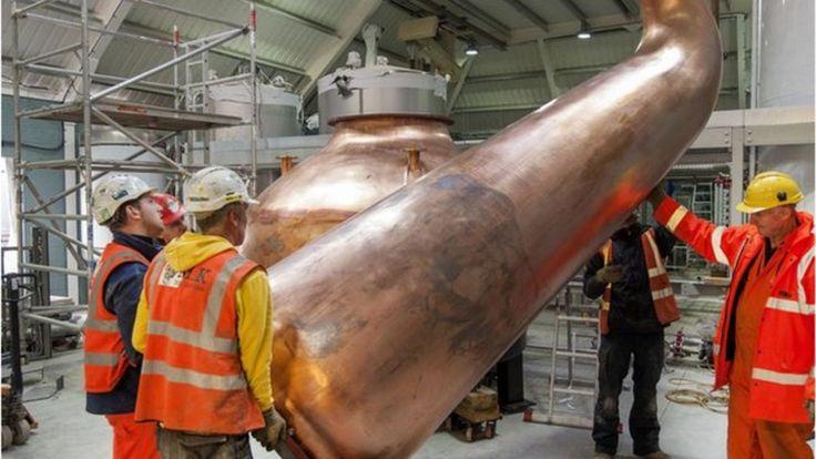 Copper stills arrive in Fife distillery