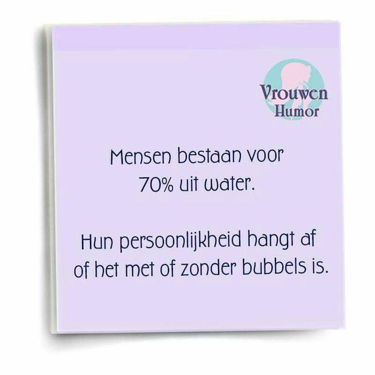 Mét of zonder bubbels?