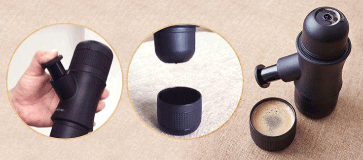 Honana Portable Manual Coffee Maker Outdoor Handheld Mini Pressing Coffee Espresso Machine