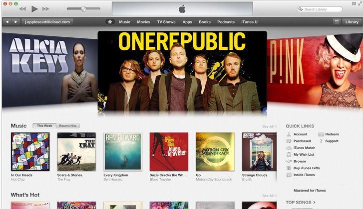 ITUNES MAIN PAGE