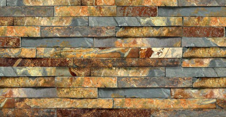 Rustic Slate Split Face Mosaic Tile - Slate Cladding - Stone Cladding by Rock Panels www.rockpanels.co.uk
