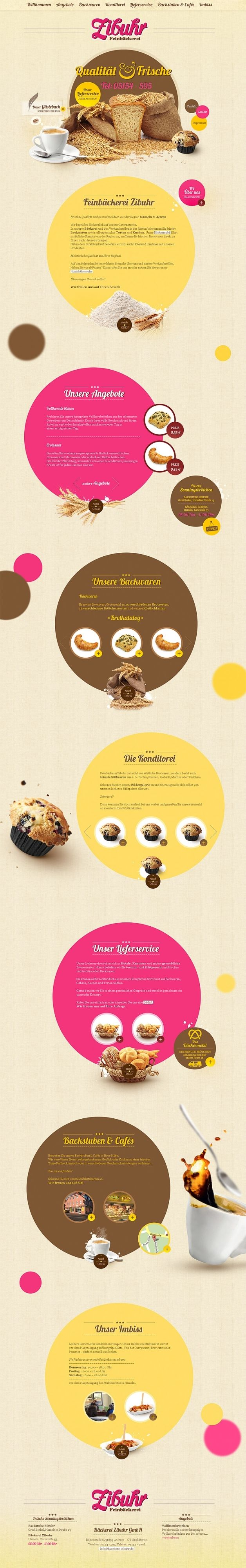 #webdesign #inspiration #bakery #cupcake | #webdesign #it #web #design #layout #userinterface #website #site < repinned by www.BlickeDeeler.de | Take a look at www.WebsiteDesign-Hamburg.de